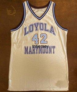 Champion 1990-1991 Loyola Marymount Ross Richardson Баскетбол Джерси Мужские Женщины Молодежь Сшитый Пользовательское Номер Имя Дейкота XS-6XL