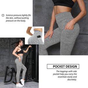 Lu Yoga Trajes al por mayor Ejercicio Fitness Fitness Wear Tiktok Medias Medias Levantamiento HIPS High Cinturon Pantalones Pocket Gris Color Atlético Apparel Lady Skinny Tamaño general S-XXXL