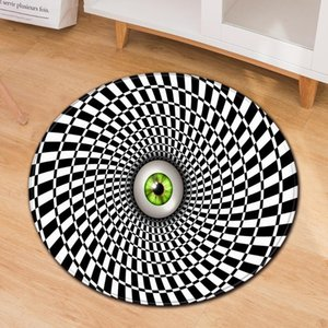 Carpets Modern Round Carpet Living Room Home Bedroom Bedside Decoration Kids Floor Mat 3D Balcony Chair Non-Slip Children Large Rug