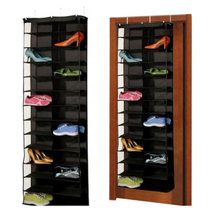 1pc 26pairs Shoes Hanger Storage Bags Over The Door Hanging Organizer Groceries Rack Space Saver Boxe jllKIN sport77777