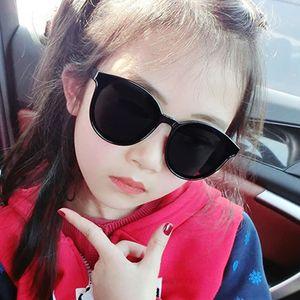 Moda Unisx Kids Cat Eye Gafas de sol Girls Boys Bebé Niños Niños Niños Redondos Gafas de sol Vintage Oculos 6 Colores UV400 50pcs Barco rápido