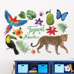 Wallpapers Mural Art Creative Wallpaper Wall Stickers Decal Tropical Elephants Jungle Adventure