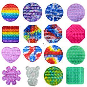 Fluorescencia Push Pop Pop Bubble Sensory Fidget Juguete Autismo Autismo Especial Necesidades Estrés Alary Spreeze Sensory Toy DWB5583