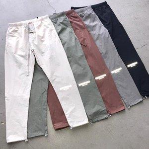 2021 Peur de Dieu Essentials Pantalon Pantalon Brouillard Réfléchissant Pantalon léger Casual Casual Hommes Ankle Pant à bandes Pantalon Fashion Street Dance Skateboard Femmes Crowstring Vêtements