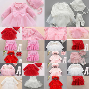 infant 1 set High quality girl princess christening baptism wedding party gown Baby shower gift photo shooting dress C0922 ERSI