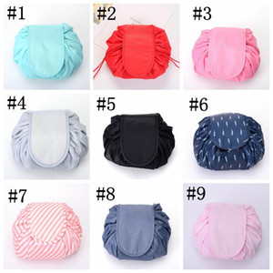 Lazy Makeup Bag Large Cosmetic Bag Flamingo Waterproof Travel Washbag Portable Drawstring Toiletry Organizer Travel Storage Bags YFALS2146