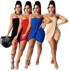 Летние женщины без бретелек платье без рукавов черные юбки bodycon разделенные юбки сексуальная одежда плюс размер S-2x тощая упакованная бедра 4x 4602