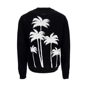 2021 Spring Palm Tree Printed mens women sweaters new casual fashion jumper Classic jacquard letter crew neck S-XXL warm designer sweater