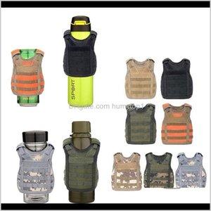 7 Color Mini Tactical Vest Outdoor Molle Vest Wine Beer Bottle Cover Vest Beverage Cooler Adjustable Outdoor Gadgets Cca11708 30Pcs Xj Rakq2