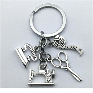 New Fashion Jewelry Sewing Machine Keychain, Seamstress Keychain, Quilters Keychain Handmade New qylJNs
