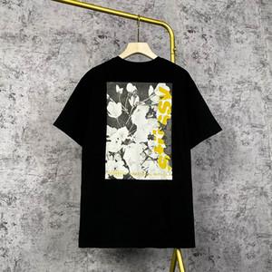 Chegada nova 2021 / Stussy tendência de t-shirt masculina camisa de manga curta de alta qualidade impressão digital de jato S-2XL