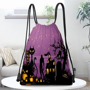 Party Decoration Purple Starry Sky Halloween Beam Pocket Backpack Bag Mobile Phone Candy