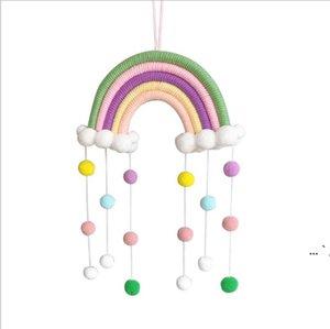 قوس قزح السحب شنقا قطرة قلادة ديكور غرفة الطفل الديكور النمط الشمال الجدار شنقا حلية للتصوير الدعامة rainbow شكل OWC6582