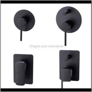 Matte Black Brass Shower Valve Shower Faucet Diverter Control Valve Wall Mounted Mixer Valve For Spout Shower Head Gm089 Vqep0