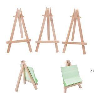 8x15 cm in legno naturale mini treppiede tappo di pittura tasta da pittura menu accessoriy stand display piccolo titolari decorazione di nozze HWA6251
