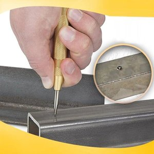 5 inç otomatik merkez yumruk yay yüklü merkez yumruk işaretleme çizme delikleri yuvarlak keski çelik kesme başlangıç delikleri aracı