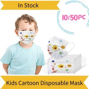 10 50 100pc Kids Masque Mask Disposable Face Masks Children Mascarilla Dechable Mondmasker Mascherine Halloween Cosplay