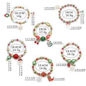 Creative Women's Christmas Bracelet hand chain Party Xmas tree Santa Claus Bracelets Small gift WLL384