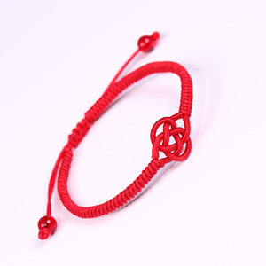 Ethnic Red Rope Knot Bracelet an Buddhist Lucky Handmade Braided Adjustable Bracelets Bangle For Women Men Unisex Jewelry