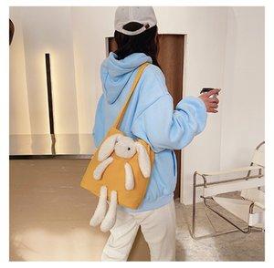 28 bolso de peluche hembra 2020 otoño e invierno nueva historieta japonesa y coreana linda niña bolso de hombro lindo oso juguete Messenger Bag