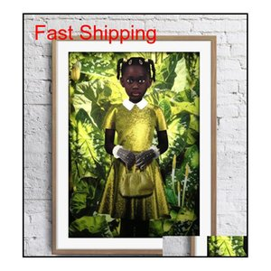 Ruud Van Empel Art Works Standing In Green Yellow Dress Art Poster Wall Decor Pictures Art Print Poster Unframe 16 qylIuW bdetoys