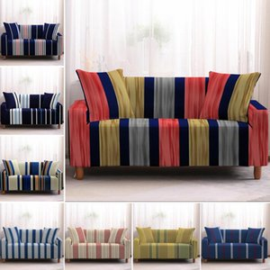 Chair Covers Line Striped Printed Stretch Sofa Cover Spandex Elastic Couch Sectional Slipcovers Armchairs For Living Room