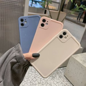 New Silicone Candy Color Phone Case For iPhone 11 12 Pro X XR XS Max 8 7 Plus SE 2020 Lens Protection Soft Back Cover