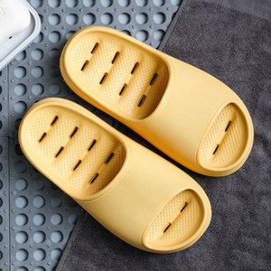 Duoyi New Shoes Mujeres antideslizantes Grueso Grueso Verano Hogar Casa Tiroces de baño Parejas Indoor Female Slipper Cómodo 210225