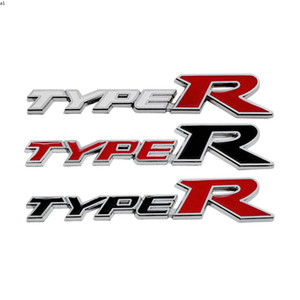 3D Metal Sticker For Honda TYPER TYPE R Accord Civic CRV Fit Pilot HRV Stream Crider Greiz Insight CRZ Vezel Car Emblem Badge