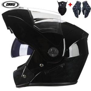 Nuevo Flip Up Motorcycle Helmet Visor Doble Helmets Motorbike Hombre Cascos Casco Moto Cara de Motocicleta Casco Casco Para Hombre