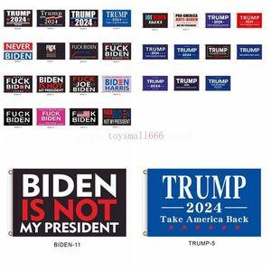 86 Styles 2024 3*5 Feet Trump Flag Biden Is Not My President 90*150cm US Presidential Election Flag Trump Flags Banners
