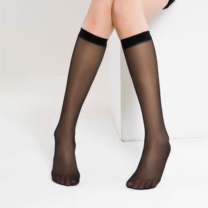 Medium tube silk stockings spring and summer medium short bone core wrapped half cut