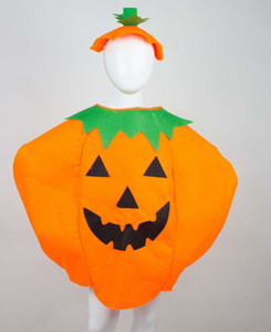 Kids Pumpkin clothes Cosplay clothing Halloween pumpkin sett Performance Party clothes for Children's day GN C013