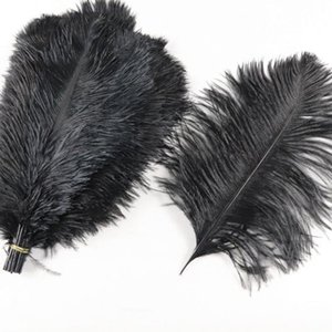 2021 Ostrich Feather 25-30cm 100pcs Per Lot 10-12 inch White Ostrich Feather Plume Supplies Wedding Party Table Centerpieces Decoration