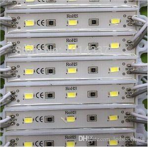 شحن مجاني 3LED وحدة واحدة وحدة نمط SMD 5730 IP 65 ماء الصمام الوحدات تسجيل رسائل الخلفية الخلفي 3led 1W 72LM DC 12V