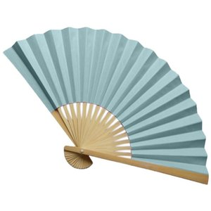 Ventilateurs traditionnels chinois tenu des ventilateurs en papier bambou pliant fan de poche plié pour l'église mariage de mariage décor