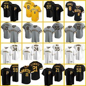 21 Roberto Clemente Jersey PittsburghKorsanlar Josh Bell Starling Marte Colin Moran Beyzbol Adam Frazier Ke'Bryan Hayes Erik Gonzalez