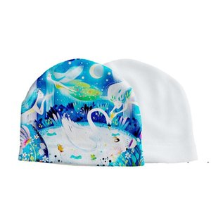 Nouvelle sublimation bricolage bricolage blanc chapeau blanc en fleuron automne hiver gorros beanie transfert thermique impression capscule adultes enfants chics bouillis ewb7572