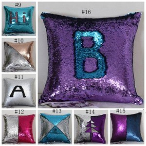 Sequin Pillow Covers Glitter Mermaid Cushion Covers Reversible Sequins Pillow Case Magical Color Home Decor 24 Styles 10pcs OWE5050