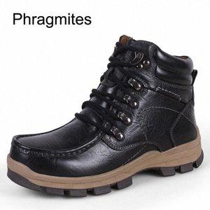 Phragmiten mann outdoor anti rutsch wandern schuhe winter warme schnee stiefel keile kühle zapatos de mujer lässig leder stiefel botas niedlichen schuh 26y8 #