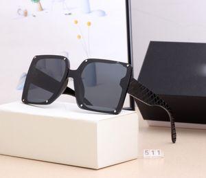 2021 Novo Designer de moda óculos de sol de alta qualidade marca polarizada lente sol óculos óculos para mulheres óculos metálicas metálicas 511