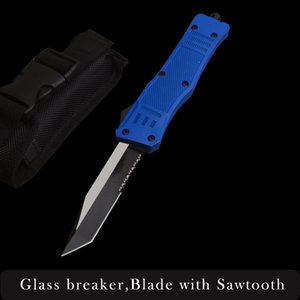 Microtech A161 A162 Halo IV Troodon Scara Blue handle Double action Automatic knife Ultratech pocket EDC hunting survival