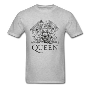 Queen Freddie Mercury Brand Tee Grey Rock Music Popular Tshirts Hip Hop Women Men Fashionable All Cotton t Shirt New