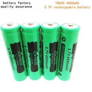 La batería de litio de litio de alta calidad de 18650, 4500mAh, se puede usar una batería de litio puntiaguda / plana con linterna brillante y así sucesivamente.