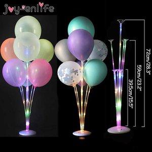 Светодиодный свет воздушные шарики воздушный шар стойка столбец свадебный стол украшения воздушные шары держатель рождественские балуновые детские душа день рождения 210610