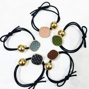 Klassischer Briefhaar-Krawatten Seil Frauen Mädchen Spirituosen Elastisches Haarband Pferdeschwanzhalter Kreis Mode Scrunchies Haar Ring Zubehör 17 Farbe