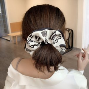 Simple Silk Simple Retro Hairbands Yoga Hair Rubber Bands Large intestine Women HairJewelry Charm Letter Elastic HairBand Accessories Party