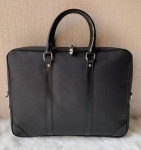 2021 High quality luxury Men Shoulder Briefcase Black Brown Leather Handbag Business Men Laptop Bag Messenger Bag