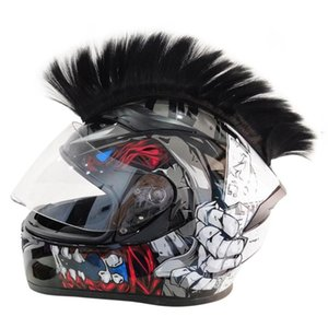 Motorcycle Helmets Colorful Helmet Decorations Hair Punk Cockscomb Motocross Full Face Off Road Decoration Paste Car Accessories