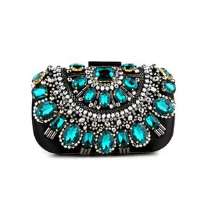 Women Luxurys Designer Bags 2021 Handbag Multicolor Diamond Crystal Beading Clutch Rhinestone Evening Shoulder Bag Purse for Prom Wedding Party